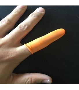 Gumowe rękawice z palcami - opakowanie 100 sztuk