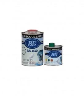 Bezbarwny lakier UHS BS830 1L 330ml utwardzacz 150ml rozpuszczalnik