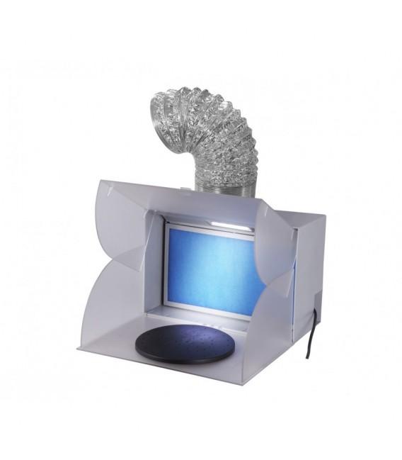 Mini kabina lakiernicza z obrotową tacą