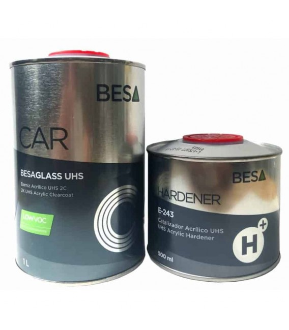 Bezbarwny lakier samochodowy UHS BESAGLASS