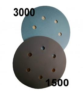 Tarcze do polerowania z ziarnem velcro 1500 lub 3000