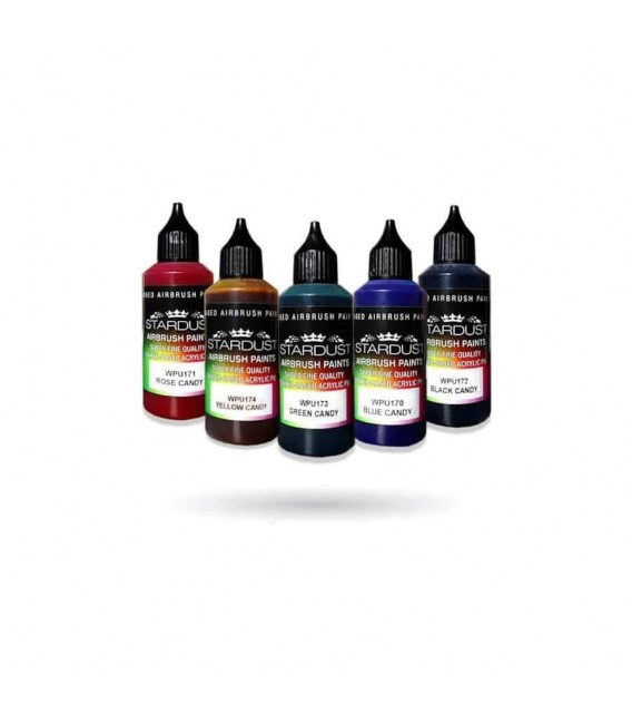 Seria Candy – 8 kolorów przezroczystych akrylowo – PU do aerografów