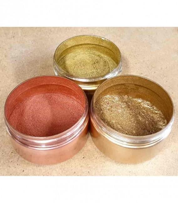 Pigmenty metaliczne złoty, brąz, miedziany 10 mikronów
