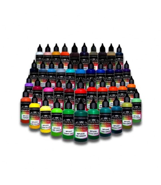 Akrylowe farby matowe do aerografu - Wersja 1L - 43 różne kolory
