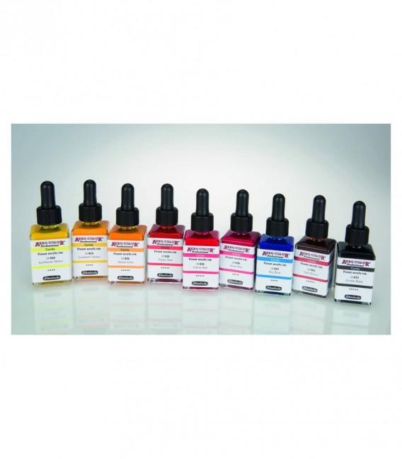 Candy Schmincke : 9 barwników Aero Color ultra cienkich i intensywnych