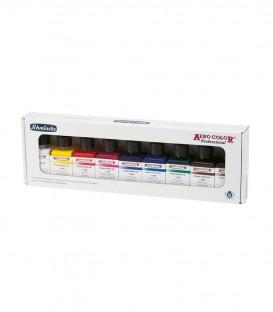 Zestaw 9 podstawowych kolorów Aero Color - asortyment farb Schmincke