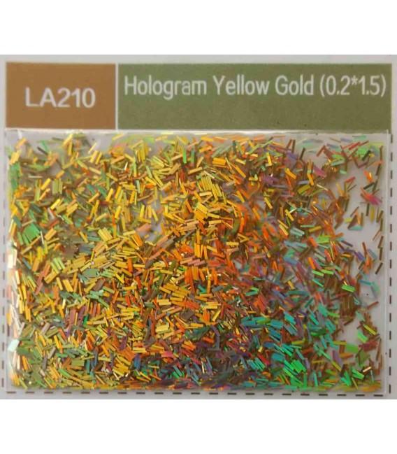 PAILLETTES HOLOGRAPHIQUES gold 68µm