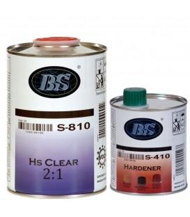 1 L lakieru HS 810 + 0,5 L utwardzacza 412  + 125 ml rozpuszczalnika 710