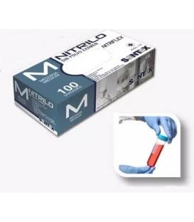 Jednorazowe rękawiczki niebieskie nitrylowe (100 sztuk )